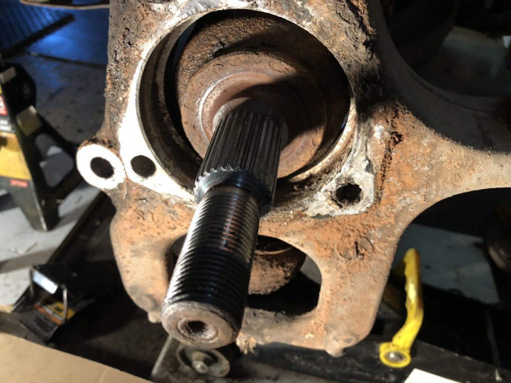 2007 Jeep WK STeering knuckle with bearing removed